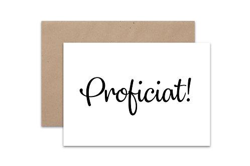Postkaart 'Proficiat'