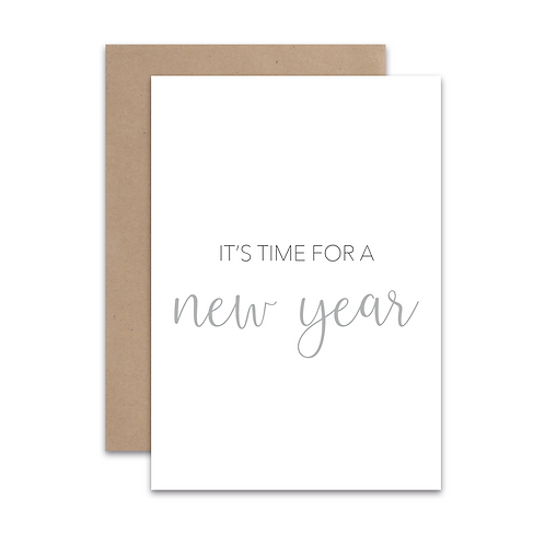 Kerstkaart 'New Year'