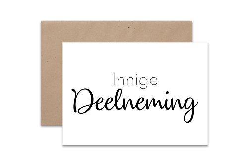 Postkaart 'Deelneming'