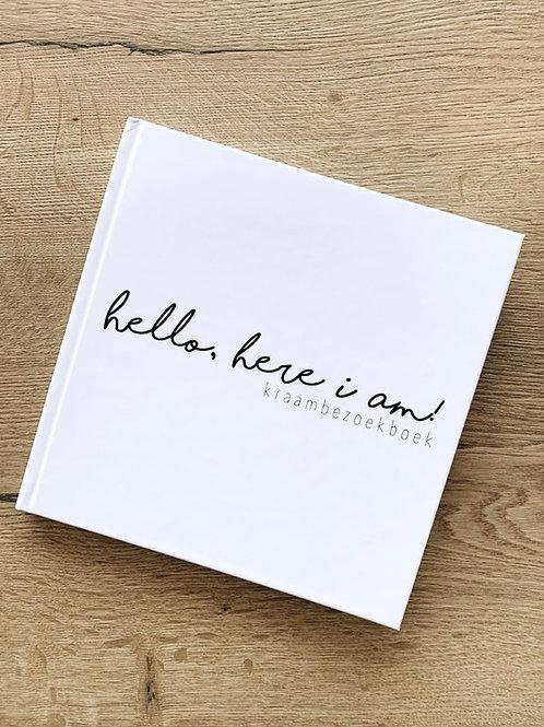 Invulboek | Hello, here i am! - Kraambezoekboek