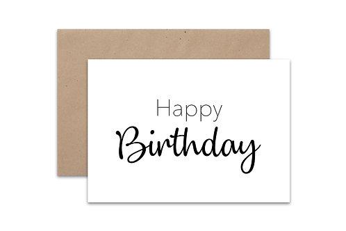 Postkaart 'Happy Birthday'