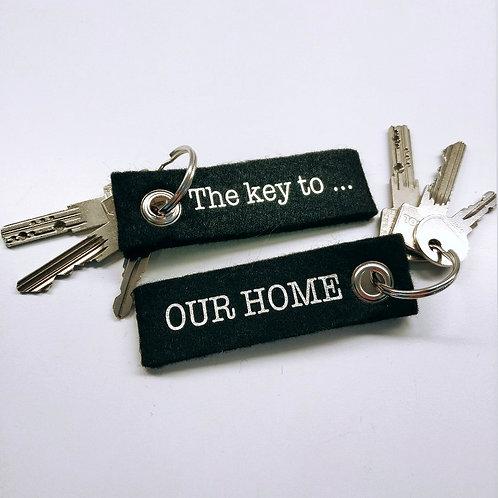 Vilten sleutelhanger 'The key to ...'