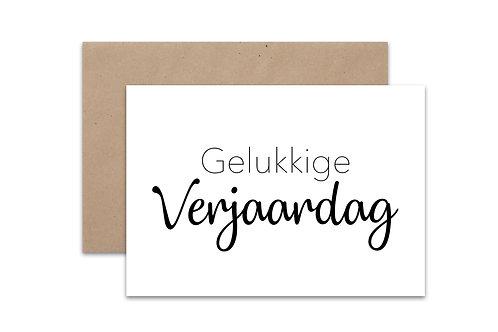 Postkaart 'Verjaardag'