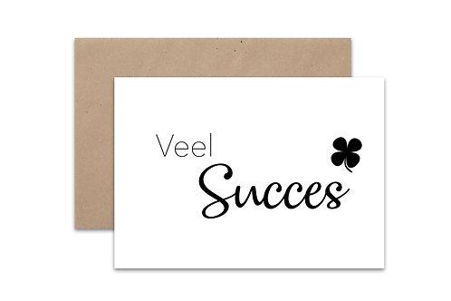 Postkaart 'Veel Succes'