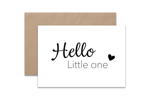 Postkaart 'Hello Little One'