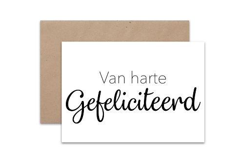 Postkaart 'Gefeliciteerd'