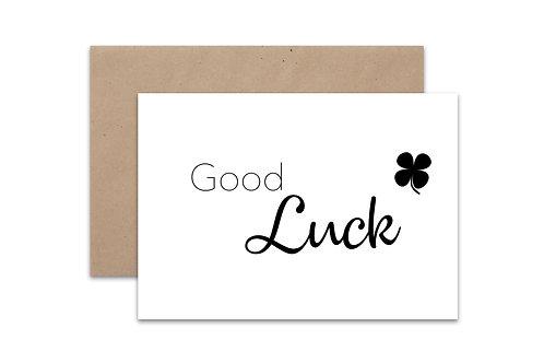 Postkaart 'Good Luck'