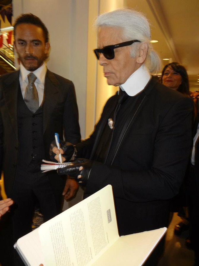 Up Close and Personal with Karl Lagerfeld