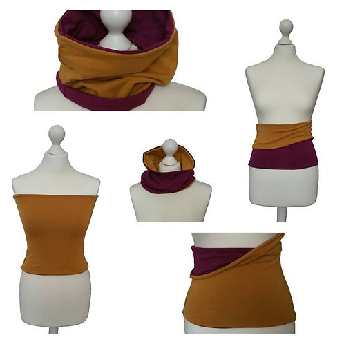 Back Warmer - Double Sided - Bordeaux and Yellow