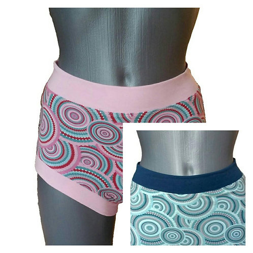 Retro Style Print shorts for Pole Dance and Yoga Training