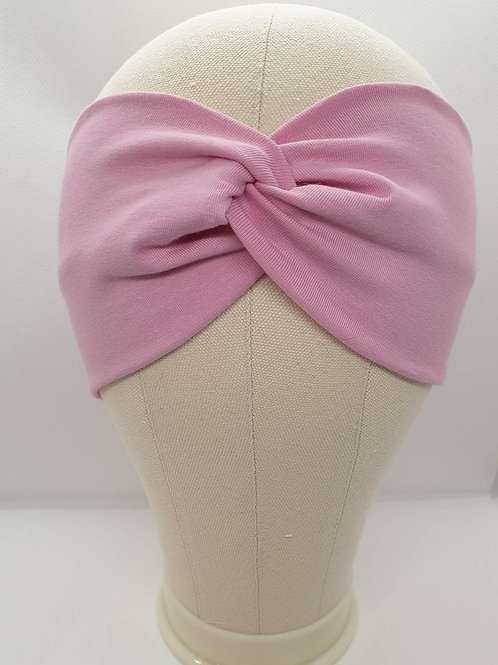 Cotton Turban Headband Pink Powder