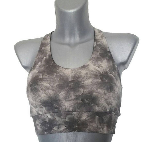 Bralette Gray Flowers