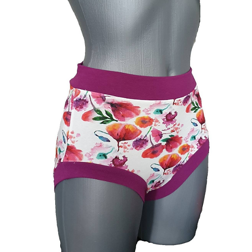 Flowers Pattern Shorts for Pole Dance and Yoga Training