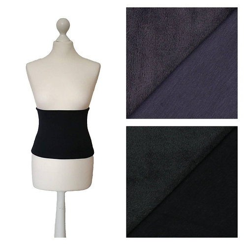 Fleece Back Warmer Black / Aubergine