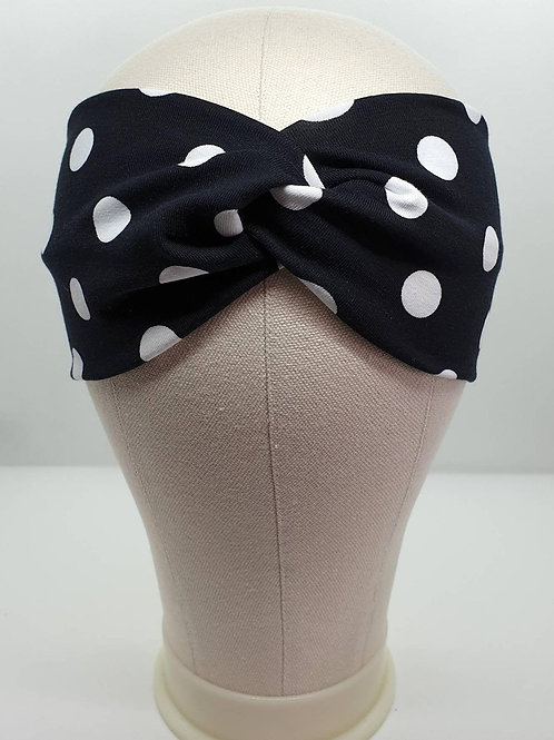 Cotton Turban Headband with polka Dots Pattern