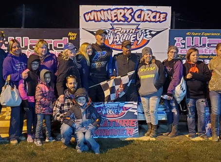 Carl McKinney wins the Al Cramer Memorial at Path Valley Speedway!