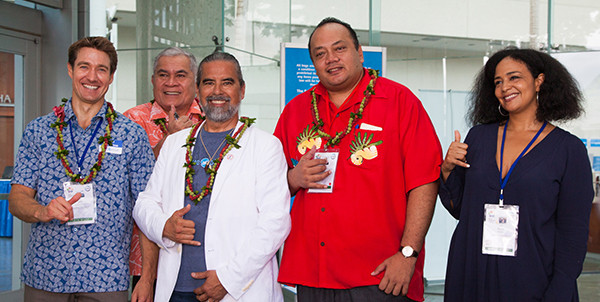 Announcing Tonga's new renewable energy goal at the IUCN Congress in Honolulu.