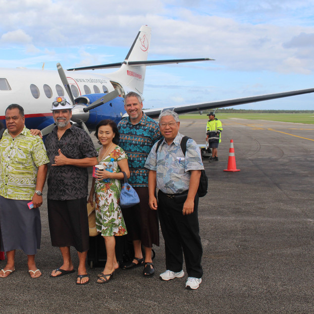 Bound for a remote Tongan island