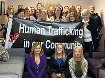 Caring House staff and systems in our community came together to STOP human trafficking for human trafficking awareness month in January.