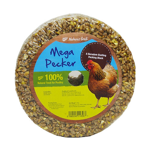Natures Grub Mega Pecker Poultry Pecking Block Garlic and Herbs