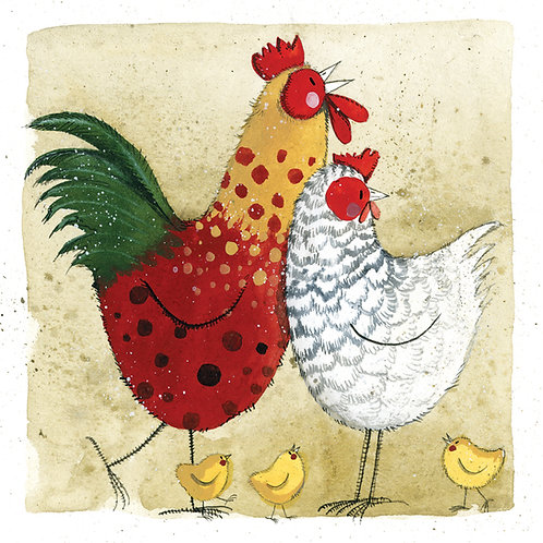 Chickens Happy Birthday Card