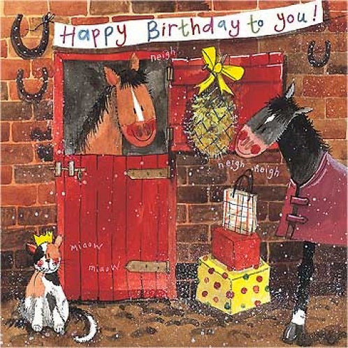 Stable Lads Happy Birthday Card