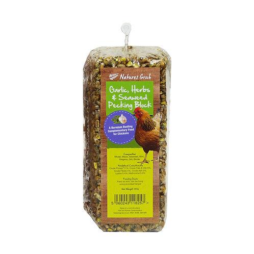 Natures Grub Pecking Block with Garlic, Herbs & Seaweed