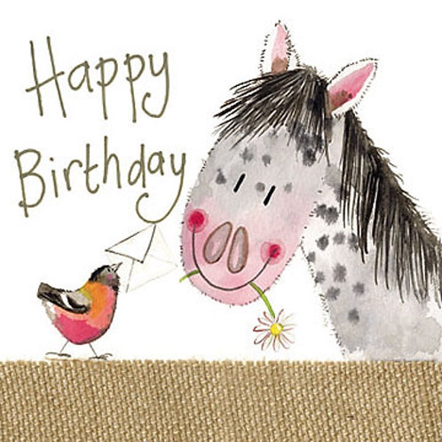 Pretty Pony Sparkle Happy Birthday Card