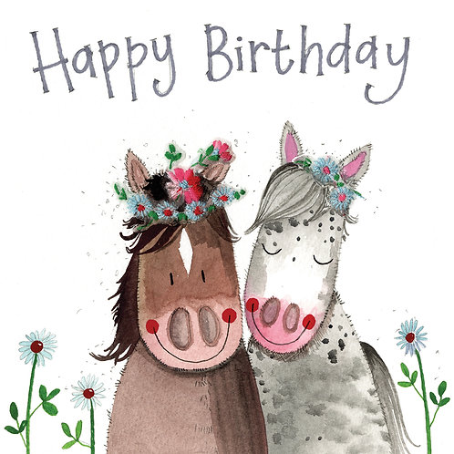 Birthday Horses Card