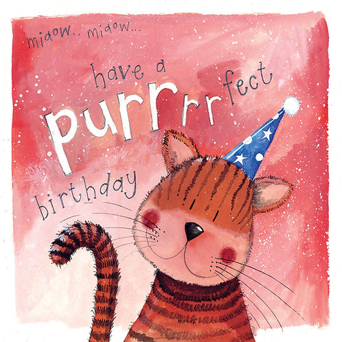 Purrfect Happy Birthday Card