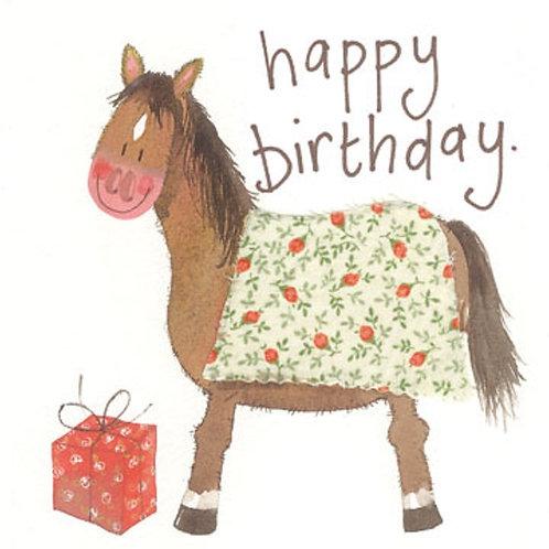 Pony Sparkle Happy Birthday Card