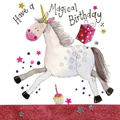 Unicorn Sparkle Card -Happy Birthday Card