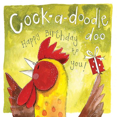 Cock-A-Doodle-Doo Happy Birthday Card