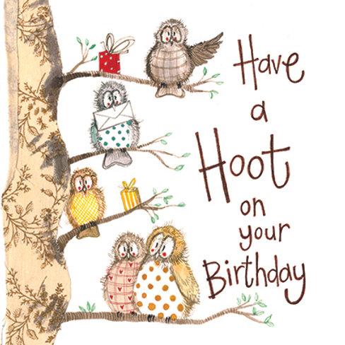 Hooters Owl Birthday Card
