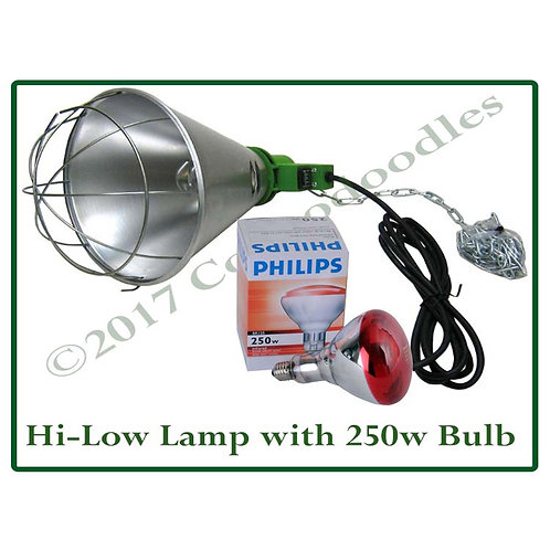 Heat Lamp with 250w Philips Bulb with Hi/Low Switch