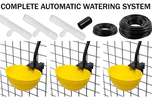 AUTO DRINKING SYSTEM FOR POULTRY WITH 6 LARGE CUPS