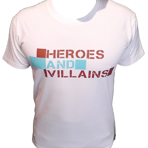 Heroes and Villains t-shirt (WHITE)