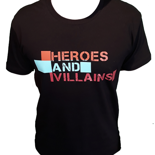 Heroes and Villains t-shirt (BLACK)