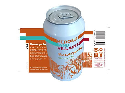 Renegade IPA case x 24 375ml cans