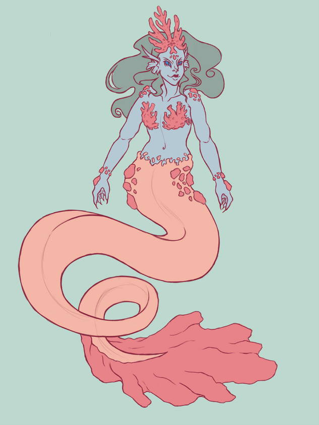 Coral Mermaid