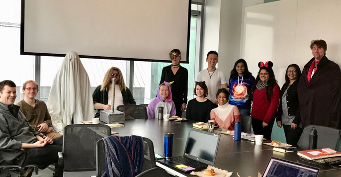 McNerney Lab Meeting on Halloween!