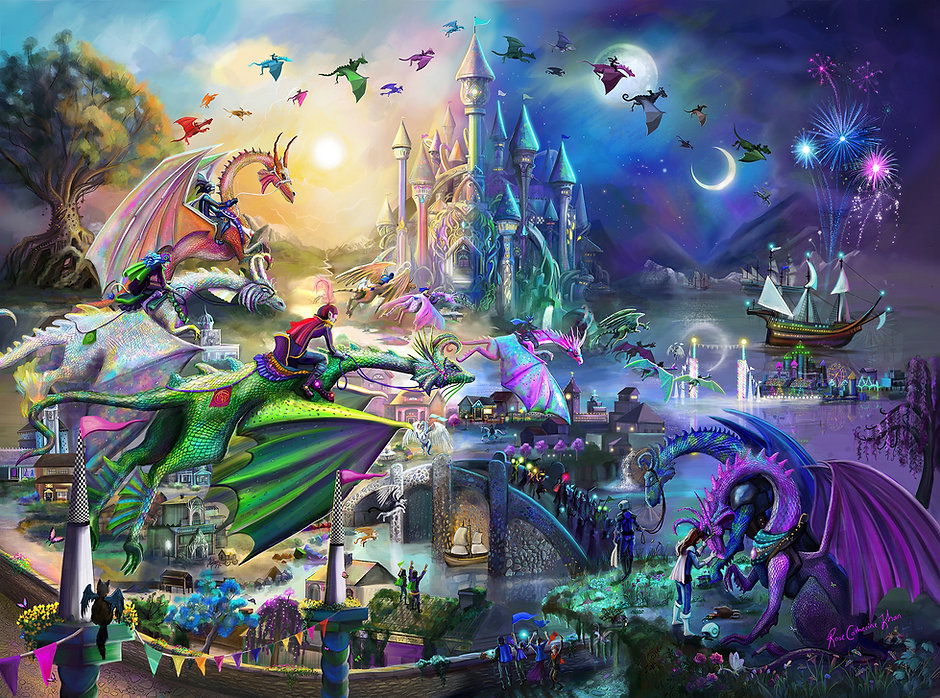 Dragon Race into the Night