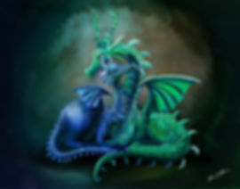 Cuddling Dragon