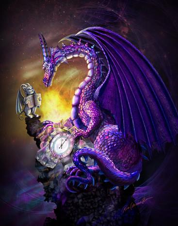 Time Dragon Amethyst