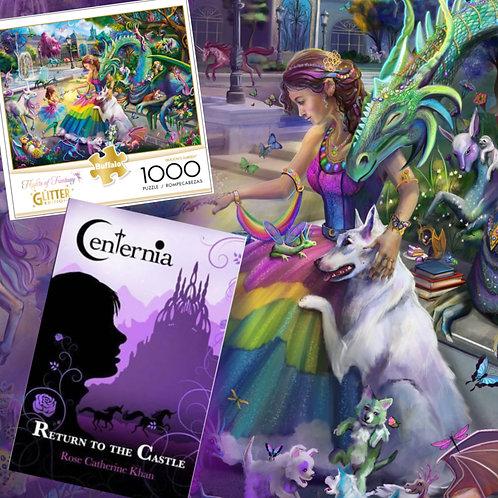 Fantasy Fans Set: 1000 Piece Puzzle + Centernia Novel