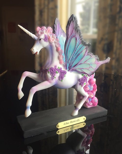Lilac Butterfilly Figurine