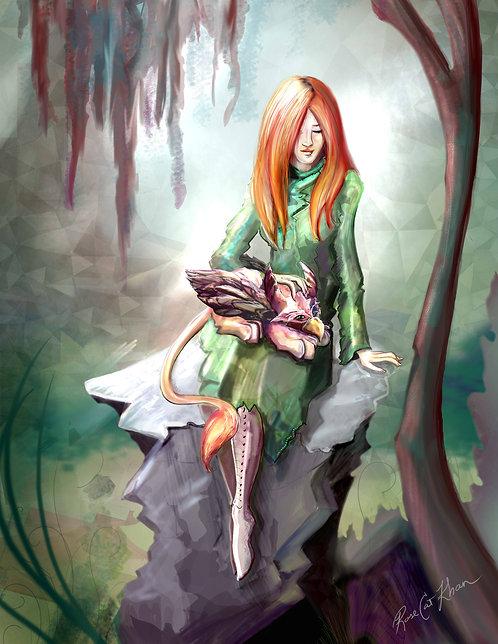 "Jessica & The Gryphon Cub Print 11"" x 14"""