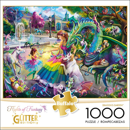 Dragon's Garden 1000 piece puzzle, signed by the artist