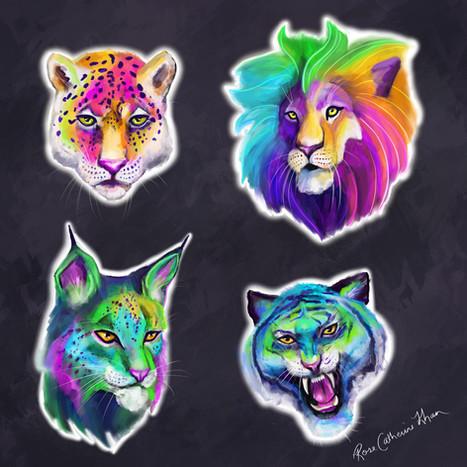 Big Cats Rainbow