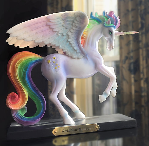 Rainbow Dancer Unicorn Figurine